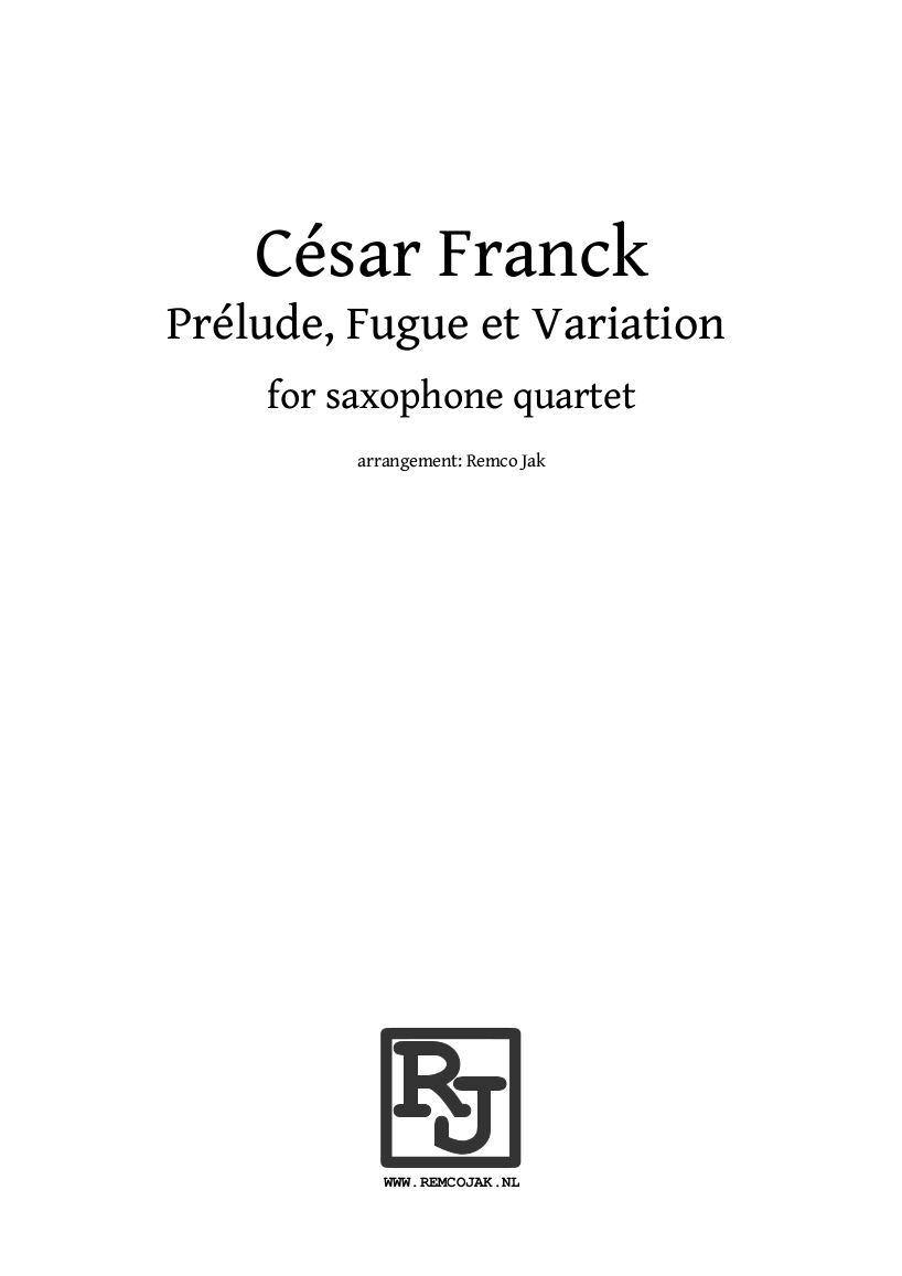 Cesar Franck - Prelude Fugue and Variation